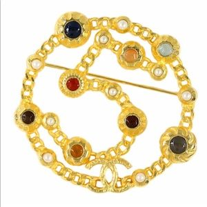 CHANEL Gold Haute Couture No 5 Oversized Brooch